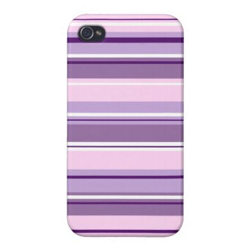 Mixed Striped Pattern Pinks Purples White Case For iPhone 4
