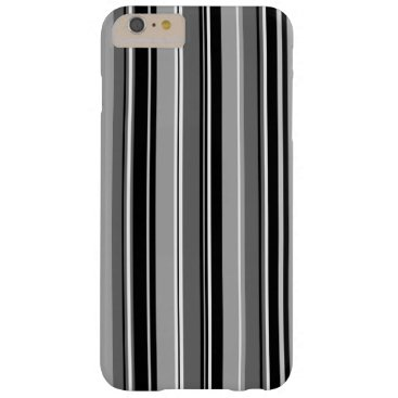 Mixed Striped (V) Pattern Black White Grays Barely There iPhone 6 Plus Case
