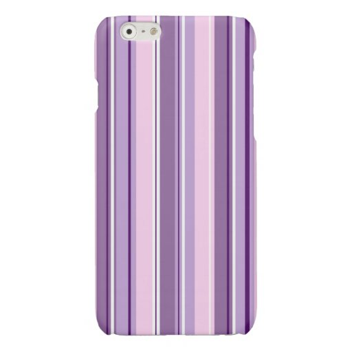 Mixed Striped (V) Pattern Pinks Purples White Glossy iPhone 6 Case