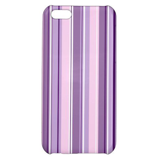 Mixed Striped (V) Pattern Pinks Purples White Case For iPhone 5C