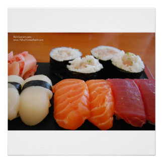 Mixed Sushi & Calif. Rolls Home Decor Poster Print
