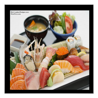 Mixed Sushi Plate Art Poster by Rick London Poster