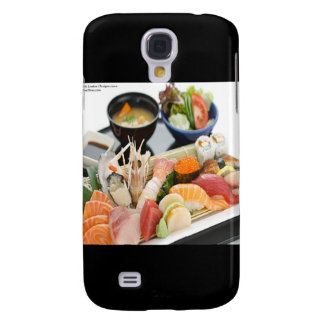 Mixed Sushi Plate & Japanese Soup Art Gifts &  Samsung Galaxy S4 Cover