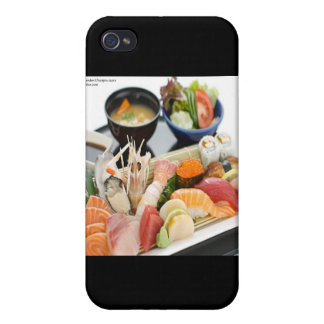 Mixed Sushi Plate & Japanese Soup Art Gifts & Tees Cover For iPhone 4