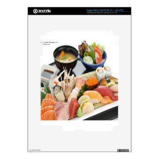 Mixed Sushi Plate & Japanese Soup Art Gifts & Tees iPad 3 Decal