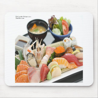 Mixed Sushi Plate & Japanese Soup Art Gifts & Tees Mouse Pad