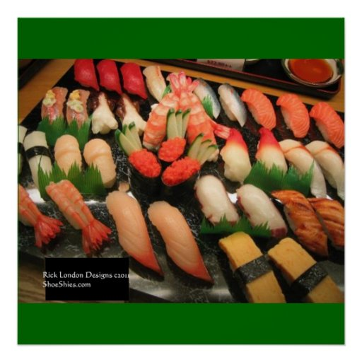 Mixed Sushi Plate Poster Print