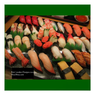 Mixed Sushi Plate Poster Print Poster