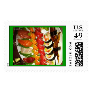 Mixed Sushi Plate Real USPS Postage Stamps Stamp