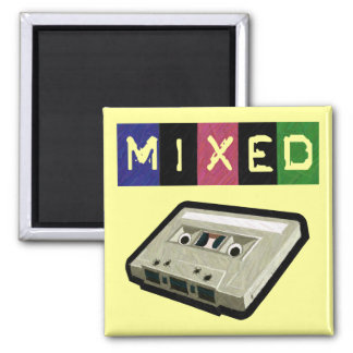 Mixed Tape-Magnet 2 Inch Square Magnet