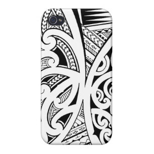 1f1b27241 Mixed tattoo styles, Maori, Samoan and Polynesian iPhone 4 Case
