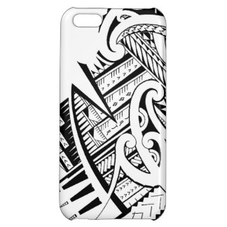 Mixed tribal tattoo design in Maori / Samoan style iPhone 5C Covers