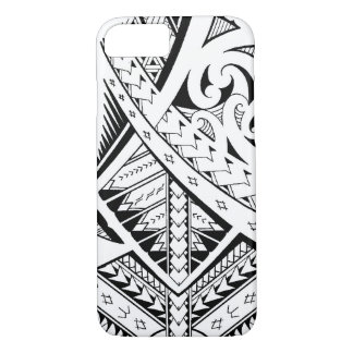 Mixed tribal tattoo patterns in Samoan Maori style iPhone 8/7 Case