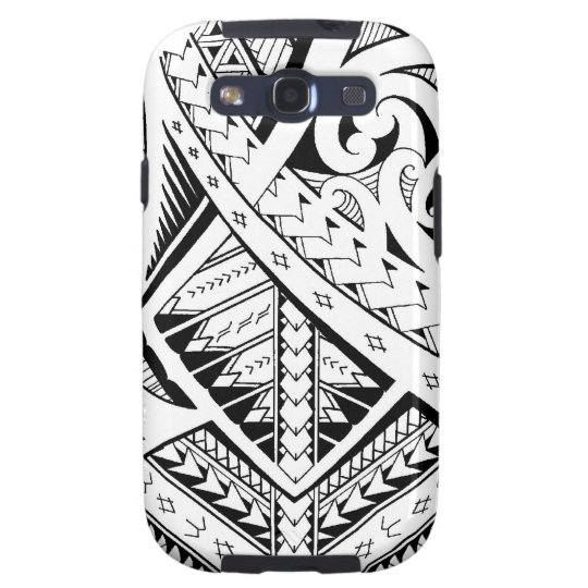 Mixed tribal tattoo patterns in Samoan Maori style Samsung Galaxy SIII Cover