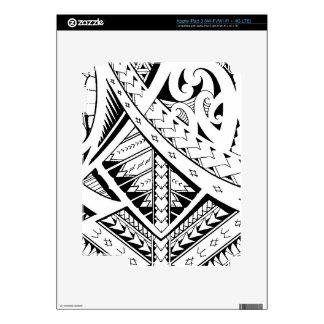 Mixed tribal tattoo patterns in Samoan Maori style Decal For iPad 3