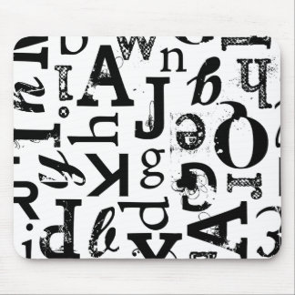 Mixed Typography Standard Mousepad