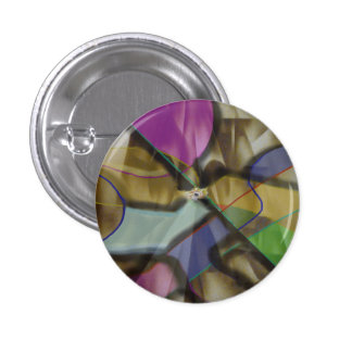 Mixed Up Colorful Abstract 1 Inch Round Button