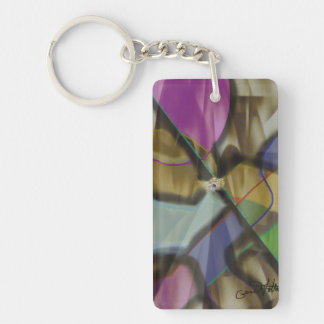 Mixed Up Colorful Abstract Keychain