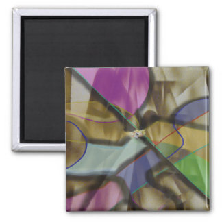 Mixed Up Colorful Abstract Magnet