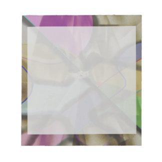 Mixed Up Colorful Abstract Notepad