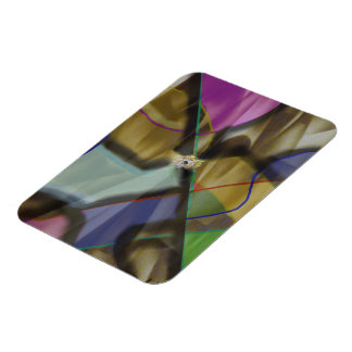 Mixed Up Colorful Abstract Rectangular Photo Magnet