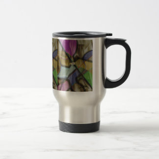 Mixed Up Colorful Abstract Travel Mug