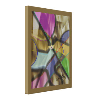 Mixed Up Colorful Jewel-like Abstract Canvas Print