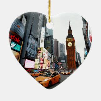 Mixed Up World! - New York City & London Ceramic Ornament