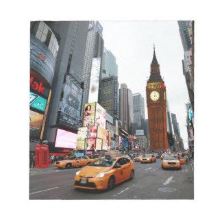 Mixed Up World! - New York City & London Memo Note Pad