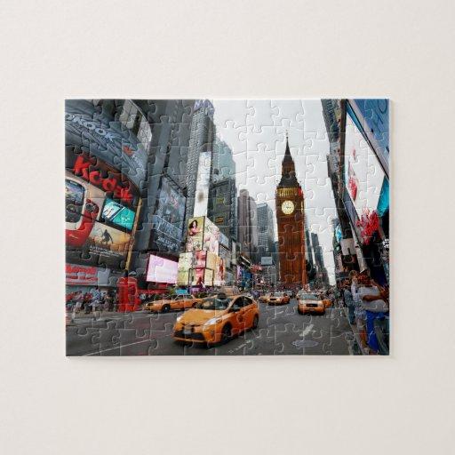 Mixed Up World! - New York City & London Puzzle