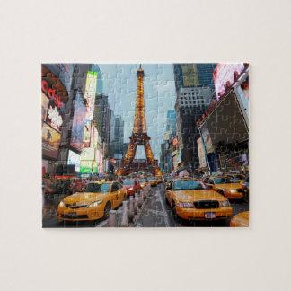 Mixed up World - New York City & Paris Puzzle
