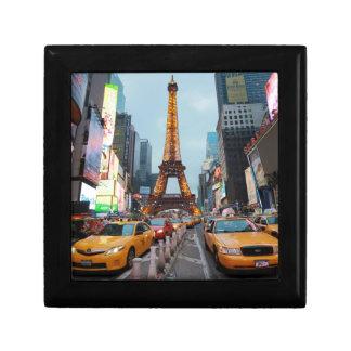 Mixed up World - New York City & Paris Trinket Box