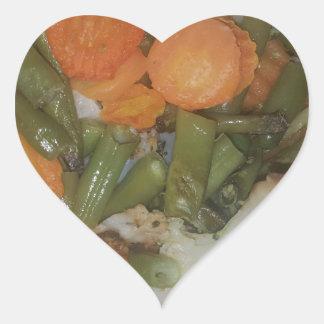 Mixed Veg... Heart Sticker