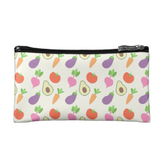 Mixed Vegetable Pattern Makeup Bags