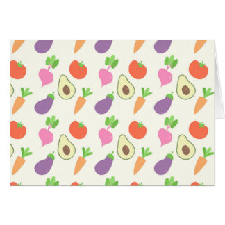 Mixed Vegetable Pattern Card