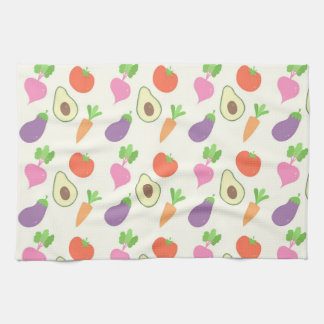 Mixed Vegetable Pattern Kitchen Towel