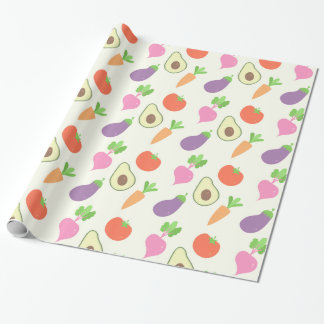 Mixed Vegetable Pattern Wrapping Paper