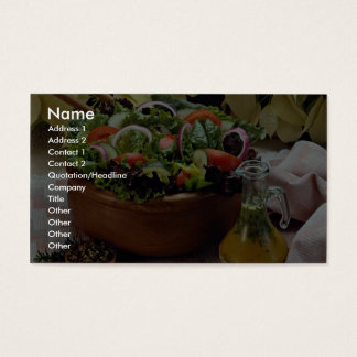 Mixed vegetable salad business card