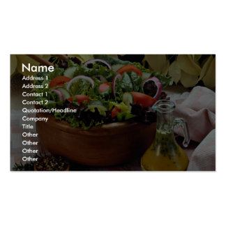 Mixed vegetable salad Double-Sided standard business cards (Pack of 100)