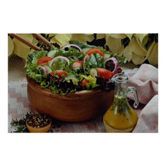 Mixed vegetable salad poster