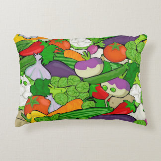 Mixed vegetables accent pillow