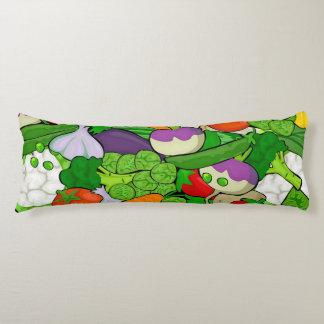 Mixed vegetables body pillow