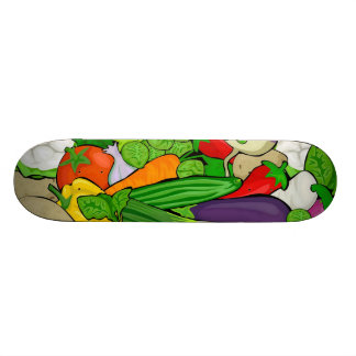 Mixed vegetables III Skateboard Deck