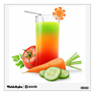 Mixed vegetables juice wall decal