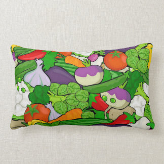 Mixed vegetables lumbar pillow
