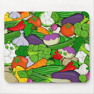 Mixed vegetables mouse pad