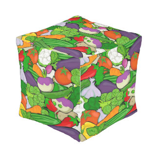 Mixed vegetables outdoor pouf