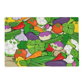 Mixed vegetables placemat