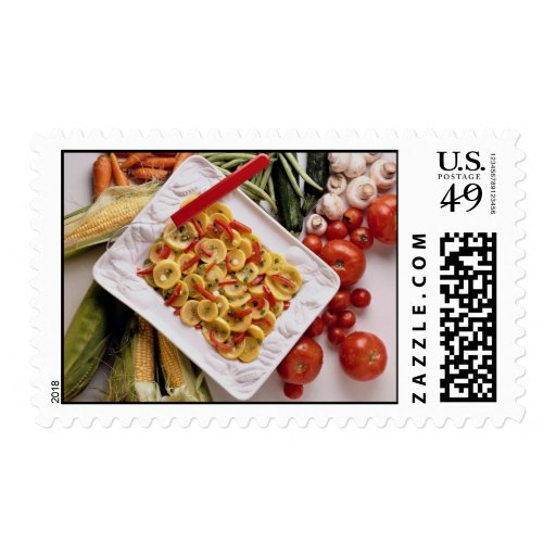 Mixed vegetables, salad plate postage