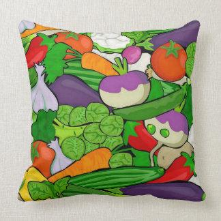 Mixed vegetables throw pillow